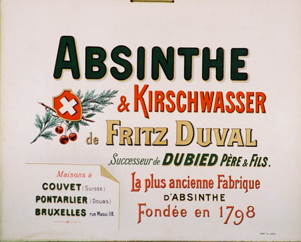 Advertisement for Fritz Duval absinthe, c 1900.