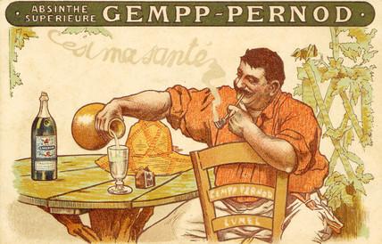 Absinthe Gempp Pernod, 1912.