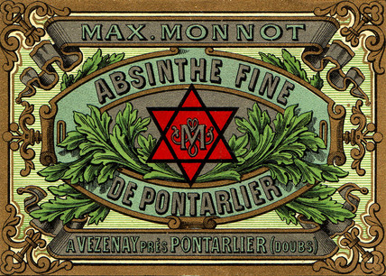 Advertisement for Monnot absinthe, c 1900.
