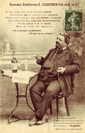 Absinthe Oxygenee Cusenier, c 1900.