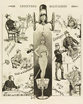 'Absinthes Militaires', 1893.