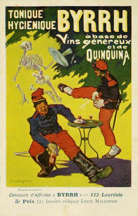 Byrrh Tonique Hygenique versus absinthe, c 1903.