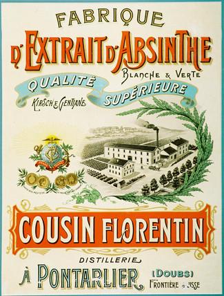 Cousin Florentin absinthe, c 1900.