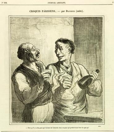 Absinthe cartoon, c 1890.