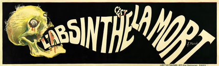 'L'Absinthe c'est la Mort', 1905.
