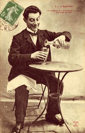'L'Aperitif' postcard no 2, 1900.