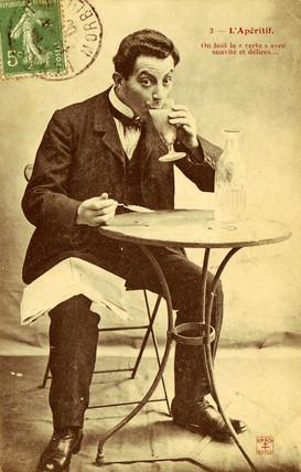 'L'Aperitif' postcard no 3, 1900.