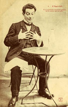 'L'Aperitif' postcard no 4, 1900.