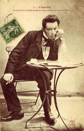 'L'Aperitif' postcard no 5, 1900.