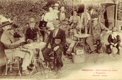Fishing party enjoying 'L'Heure d'Absinthe', 1893.