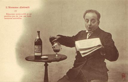 'L'Homme Distrait' postcard no 4, 1900.