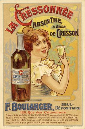 La Cressonnee Absinthe, c 1890.