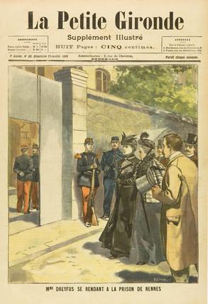 Madame Dreyfus visits Rennes Prison, 23 July 1899.