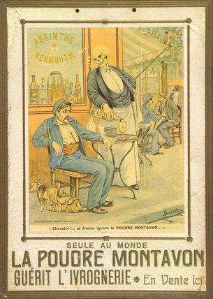 La Poudre Montavon, anti-drunkenness powder, c 1900.