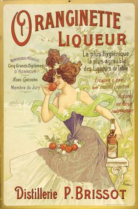 Oranginette liqueur, c 1900.