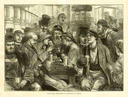 Absinthe drinkers, Paris, 1872.
