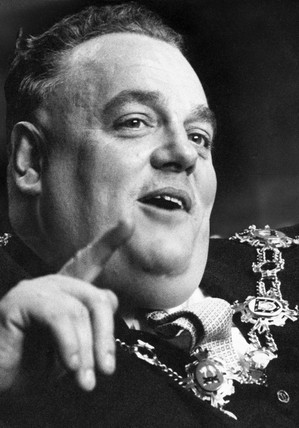 Cyril Smith, Mayor of Rochdale, August 1966.