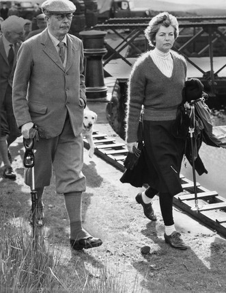 Harold Macmillan and the Duchess of Devonshire, Yorkshire, August 1961.