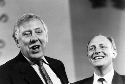 Roy Hattersley and Neil Kinnock, October 1988.