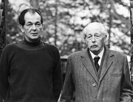 Harold Macmillan with his son Maurice, March 1974.