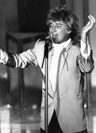 Rod Stewart, May 1984.