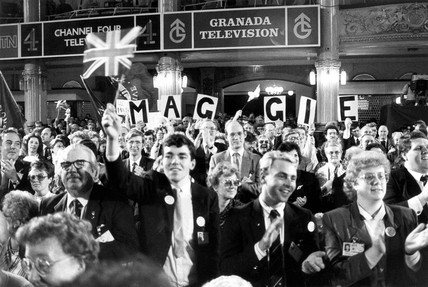 Standing ovation for Margaret Thatcher, Blackpool, 1987.