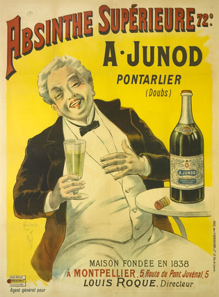 'Absinthe Superieure Junod', c 1905.