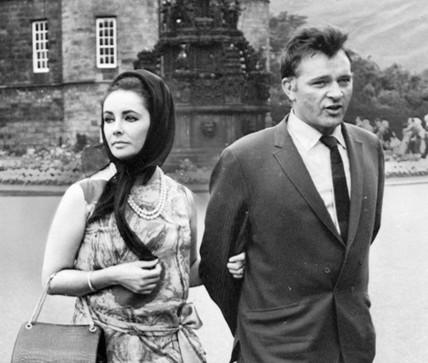 Elizabeth Taylor and Richard Burton, Edinburgh, July 1963.