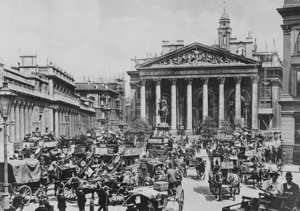Royal Exchange, London, c 1900.