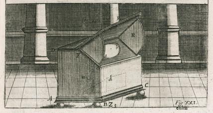 Camera obscura, 1685.