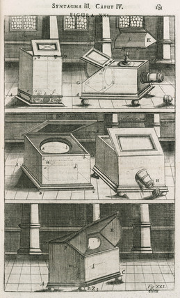 A selection of camera obscuras, 1685.