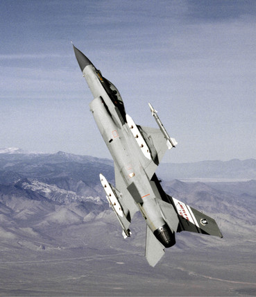 F-16 fighter plane, 22 November 1991.