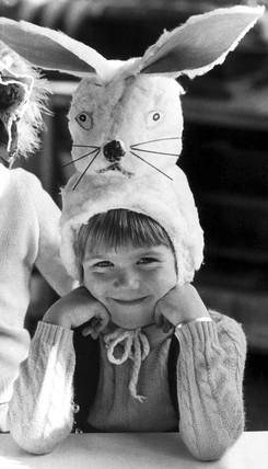 Easter Bunny bonnet, c 1970s.