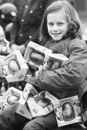 Motorcycle Easter egg run, April 1985.