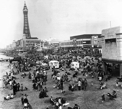 Easter Sunday, Blackpool, April 1976.