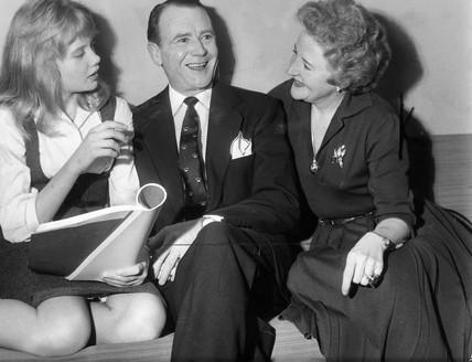 Hayley Mills with her parents, 1961.