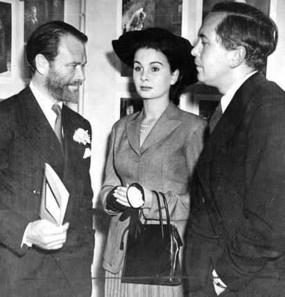John Mills, Jean Simmons and Harold Wilson, 1948.