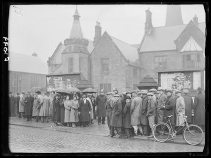 Gresford mining disaster hearing, 20 April 1937.