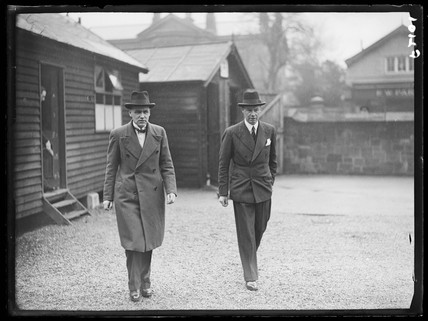 Sir Terence O'Connor (Solicitor General) and his clerk, 20 April 1937.