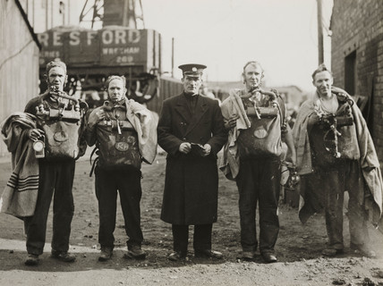 Gresford mining disaster rescue team, 4 March 1935.