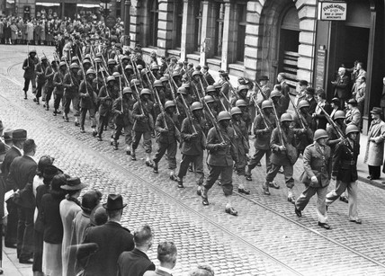 First official appearance of the American Army in Manchester, September 1942.