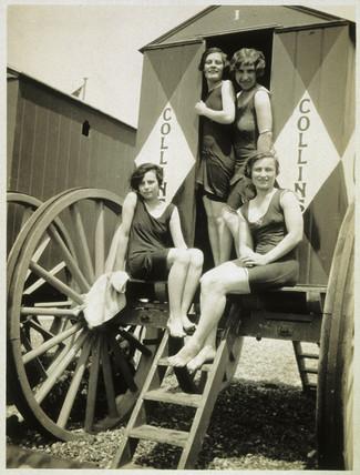 'Girls on Brighton Beach', 1926.