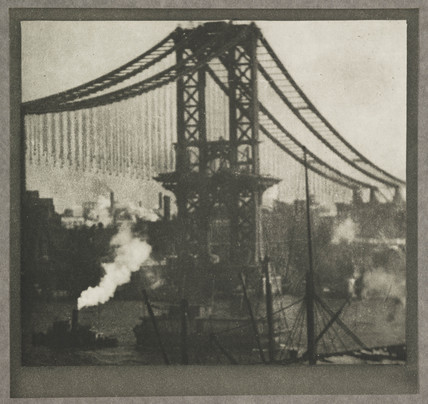 New Manhattan Bridge, New York, c 1910.