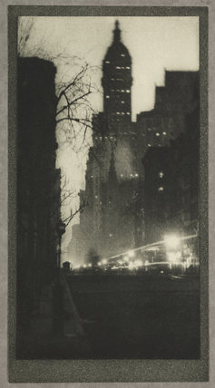 'The Singer Building, Twilight', New York, c 1910.