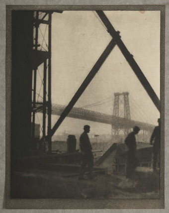 'Williamsburg Bridge', New York, c 1910.