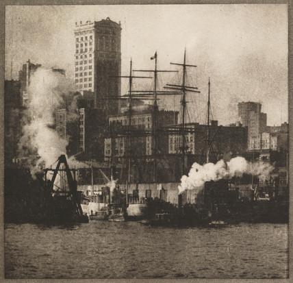 'New York Docks', c 1907.