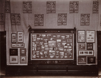 Kodak exhibition interior, 1897.