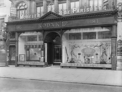 Kodak shop exterior, c 1900.