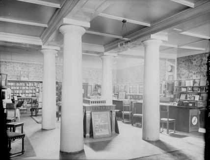 Kodak shop interior, 1900.