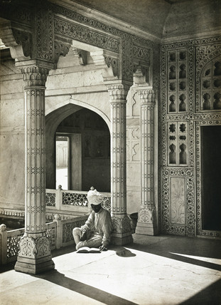 'In the Jasmine Tower, Agra', c 1932.